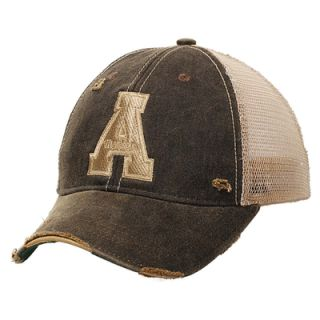 Appalachian State Mountaineers Emblem Adjustable Hat   Black