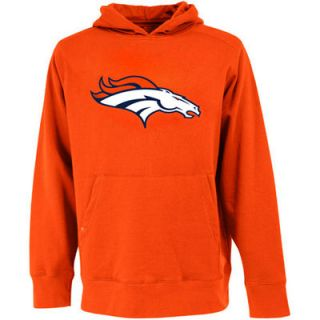 Antigua Denver Broncos Signature Center Pullover Hoodie   Orange