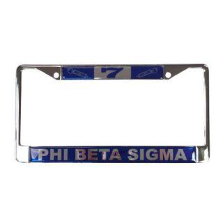Phi Beta Sigma #7 Line Number Silver License Plate Frame