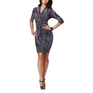 Miss Tina   Women's Gathered Jersey Dress