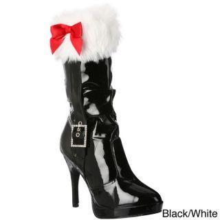 Funtasma Womens Merry 215 Santa Fur Cuff Mid calf Boots   15686075