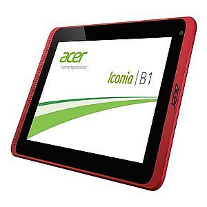 Acer ICONIA B1 720 81111G01nkr   Tablet   Android 4.2 (Jelly Bean)   16 GB   7 TFT ( 1024 x 600 )   front camera   USB host   microSD slot   Wi Fi, Bluetooth   black, red
