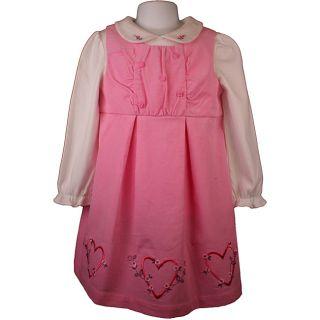 Little Bitty Pink Corduroy Jumper Dress   14006443