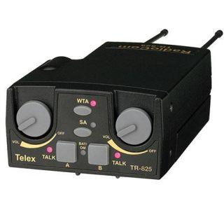 Telex RTS RadioCom TR 825 UHF Beltpack Transceiver, A4M Headset Jack, C3 BAND F.01U.145.982