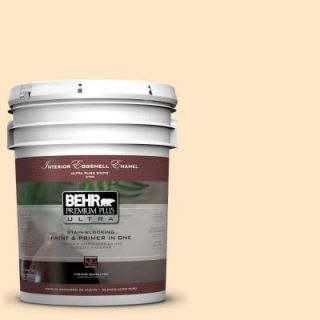 BEHR Premium Plus Ultra 5 gal. #ECC 49 1 Antigua Sunrise Eggshell Enamel Interior Paint 275005