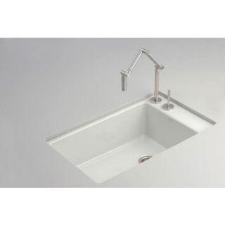KOHLER Indio Single Basin Undermount Enameled Cast Iron Kitchen Sink