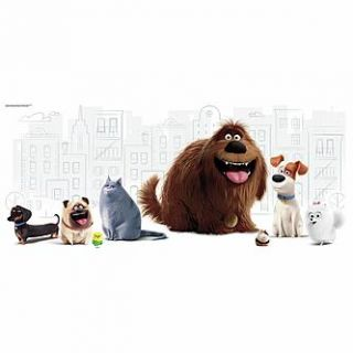 RoomMates Secret Life of Pets Peel and Stick Giant Wall Graphic   Home