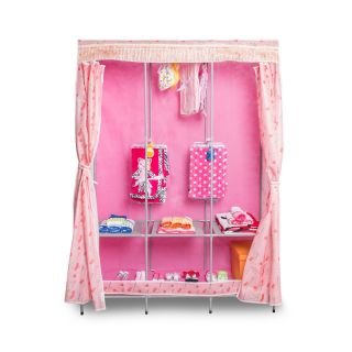 68 H x 50 W x 18 D Princess Clothes Closet by Roommate Wardrobes