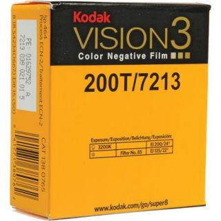 Kodak VISION3 200T/7213 Color Negative Film, SP464 Super 8 Cartridge, 50 Roll 1380765