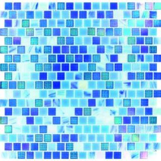 MS International Opaque Blue 12 in. x 12 in. x 4 mm Glass Mesh Mounted Mosaic Wall Tile (20 sq. ft. / case) GLS OPRAIN 15MM