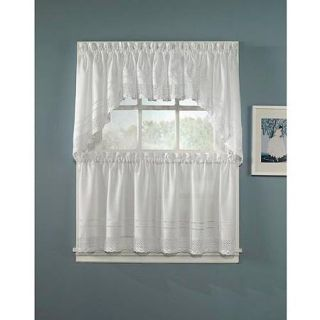 CHF & You Crochet Tailored Tier Curtain Panel, Set of 2