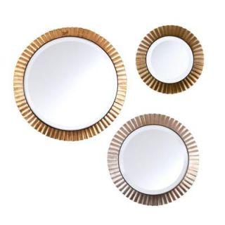 Southern Enterprises Montero 3 Piece Metallic Round Mirror Set HD889757
