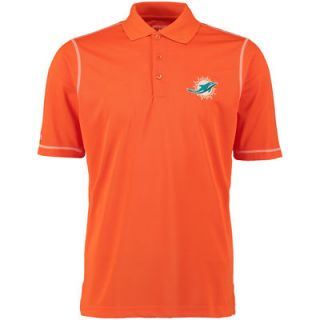 Miami Dolphins Antigua Icon Desert Dry Polo   Orange