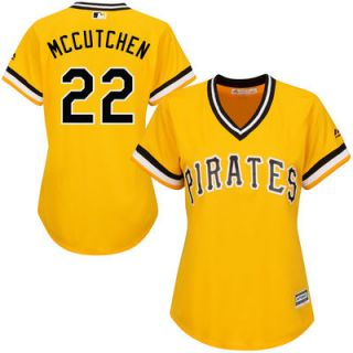 Andrew McCutchen Pittsburgh Pirates Majestic Womens Alternate Cool Base Player Jersey   Gold