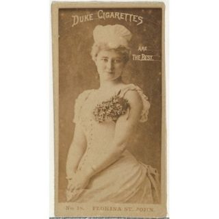 Card Number 18 Florina St. John from the Actors and Actresses series (N145 6) issued by Duke Sons & Co. to promote Duke Cigarettes Poster Print (18 x 24)