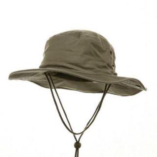 BRUSHED TWILL HUNTING FISHING HAT W/SIDE SNAPS, Khaki