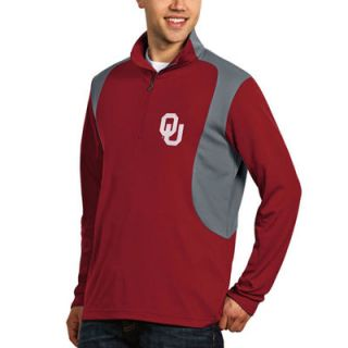 Oklahoma Sooners Antigua Delta Quarter Zip Pullover   Red