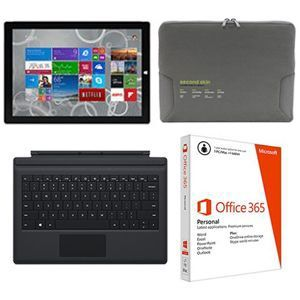 Microsoft Surface Pro 3 i7 8GB/256GB   5D2 00001 and Office 365 Personal   QQ2 00092 PC and SquareTrade 2 Yr Warranty Plus Accident Protection and Tucano 14.1 Gray Microfiber Sleeve and Microsoft RD