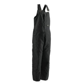 BERNE APPAREL Rigid Black Men's X Large Short Duck Overalls