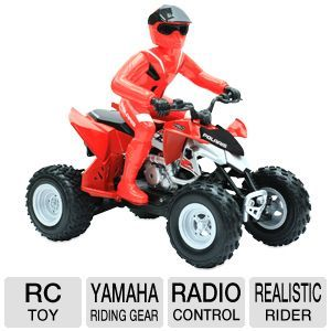 Mach Speed Polaris RC ATV Remote Control Toy   Authentic Yamaha Riding Gear, Full Function Radio Control, Realistic Rider, Red