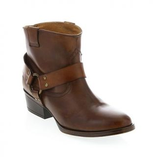"Diego di Lucca ""Shorty"" Leather Harness Ankle Boot   7581123"