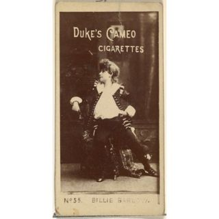 Card Number 55, Billie Barlow, from the Actors and Actresses series (N145 4) issued by Duke Sons & Co. to promote Cameo Cigarettes Poster Print (18 x 24)