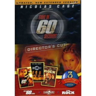 Nicolas Cage 3 Pack: Gone In 60 Seconds / Con Air / The Rock (Widescreen)
