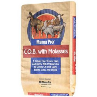 C.O.B. With Molasses: Three Grain Mix Farm Animal Feed, 40 lb