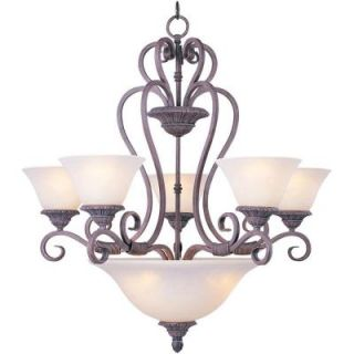 Illumine 8 Light Chandelier with Soft Vanilla Glass   Canyon Rim DISCONTINUED HD MA43105192