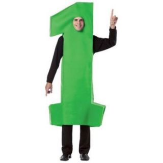 Number 1 Green Adult Costume
