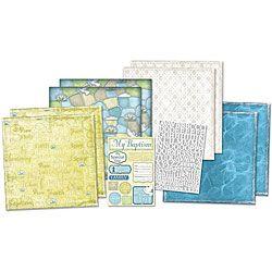 Baptism Scrapbook Page Kit   Shopping Karen