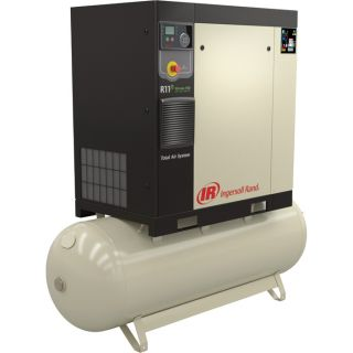 Ingersoll Rand Rotary Screw Compressor — Total Air System, 10 HP, 200 Volt/3-Phase, 36.7 CFM @ 115 PSI, 80-Gallon Tank, Model# 48670798  21   49 CFM Air Compressors