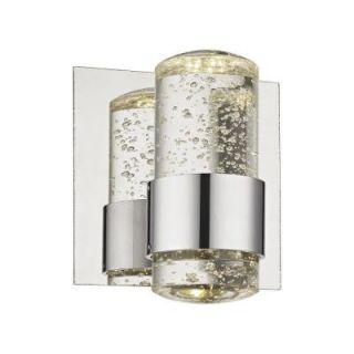 Castle 1 Light Poured Concrete with Chrome Reflector Large Pendant TN 92248