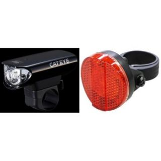 Cateye HL EL125 Bicycle Head Light/AU165 Tail Light Combo Kit   5358530