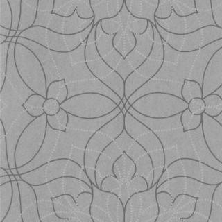 56 sq. ft. Charlotte Grey Modern Floral Wallpaper 301 66916