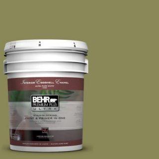 BEHR Premium Plus Ultra 5 gal. #S340 6 Fertile Green Eggshell Enamel Interior Paint 275305   Mobile