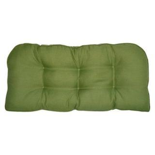 Outdoor Settee Cushion   Green Textured   Smith & Hawken™