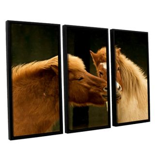 Hugz For 2014 by Lindsey Janich 3 Piece Floater Framed Photographic