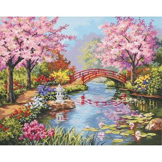 Dimensions Japanese Garden Paint by Number Kit   12543495