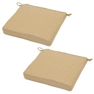 Hampton Bay Harvest Rapid Dry Deluxe Square Outdoor Seat Cushion (2 Pack) 7347 02224000