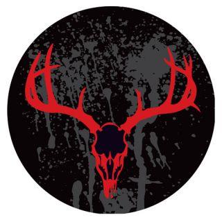 Trademark Global Hunting Skull 31 Swivel Bar Stool with Cushion