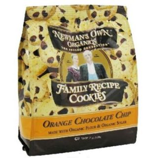 6 Pack : Newman's Own Organics Family Recipe Cookies Orange Chocolate Chip    7 Oz