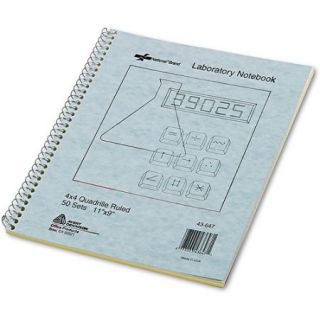 Rediform Wirebound Duplicate Lab Notebook, Quadrille Rule, 9 x 11, 100 Sheets