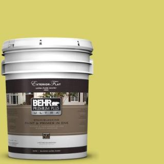 BEHR Premium Plus Ultra 5 gal. #P340 4 Lime Tree Flat Exterior Paint 485305