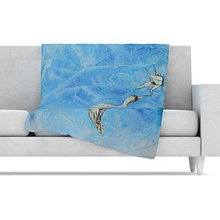 KESS InHouse Crane Fleece Throw Blanket; 90 L x 90 W