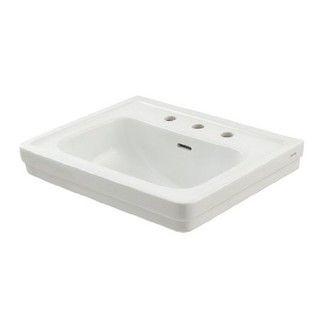 Toto Promenade Pedestal Vitreous China Bathroom Sink LT532.8#01 Cotton