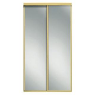 Contractors Wardrobe 60 in. x 81 in. Concord Mirrored Bright Gold Aluminum Interior Sliding Door CON 6081BGN2R