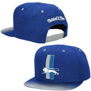 Detroit Lions Mitchell & Ness Throwback Stop on a Dime Adjustable Snapback Hat   Blue