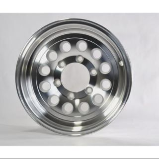 "Two Boat Trailer Rims Wheels 15"" 15X6 6 Lug Hole Bolt Aluminum Modular Design"