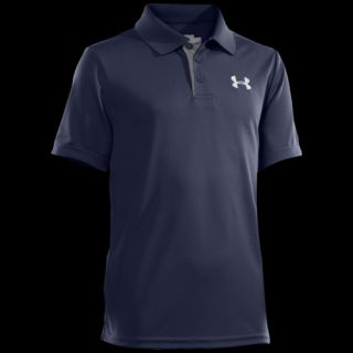 Under Armour Matchplay Polo   Boys Grade School   Casual   Clothing   Midnight Navy/True Grey Heather/White